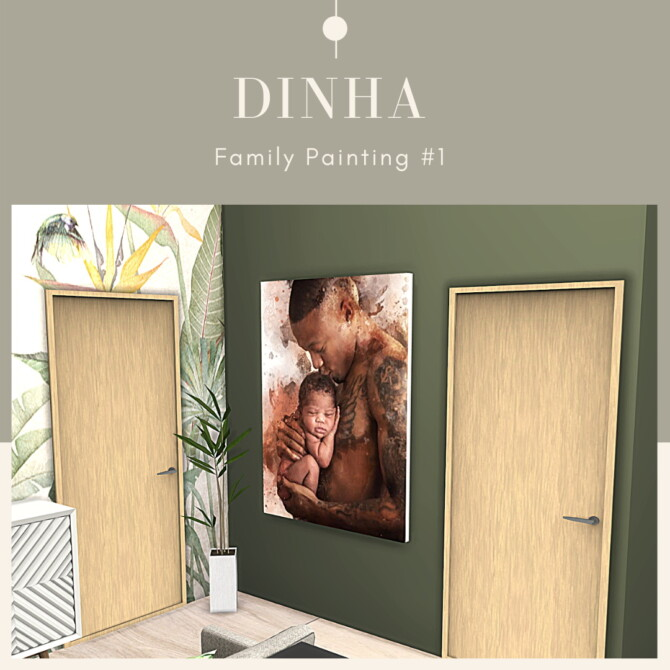 Sims 4 Family Paintings #1 at Dinha Gamer
