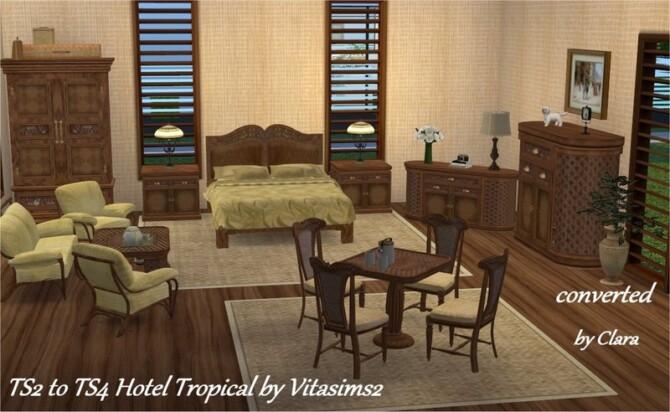 Conversion Ts2 To Ts4 Hotel Tropical Set By Clara