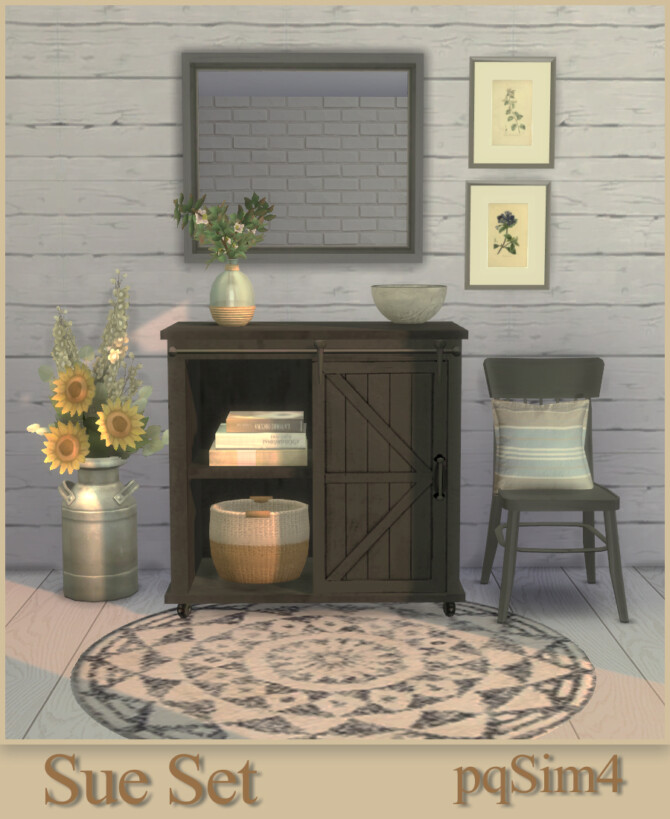 Sims 4 Sue Hallway Set at pqSims4