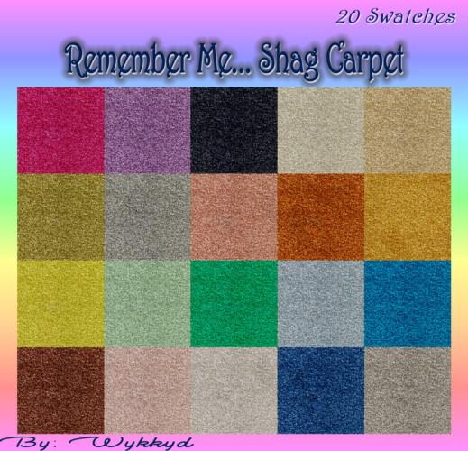 Remember Me… Shag Carpet By Wykkyd