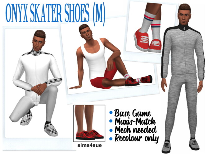Sims 4 ONYXSIMS' SKATER SHOES (M) at Sims4Sue