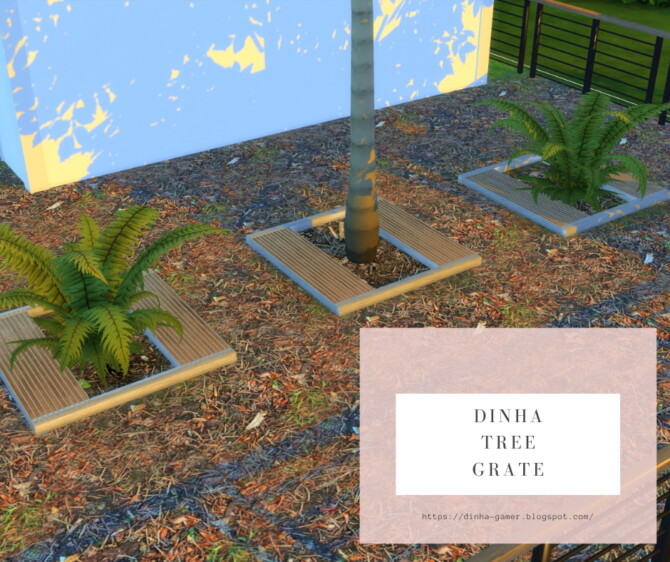 Sims 4 Tree Grate & 6 Terrain Paint at Dinha Gamer