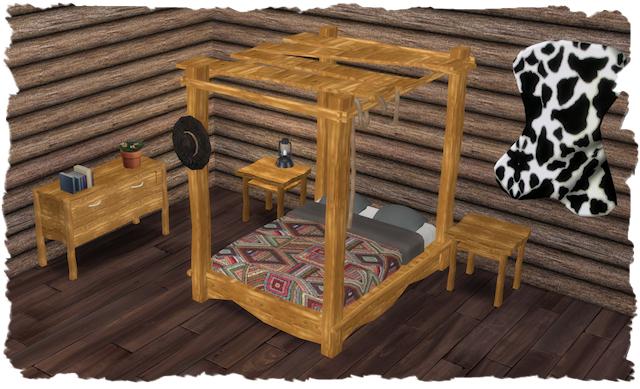 Sims 4 Cowboy Dreams Bedroom by Chalipo at All 4 Sims