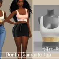 Dorita Diamante Swimsuit Top By Akaysims