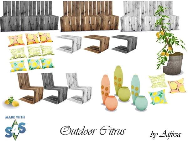 Sims 4 Citrus outdoor set at Aifirsa