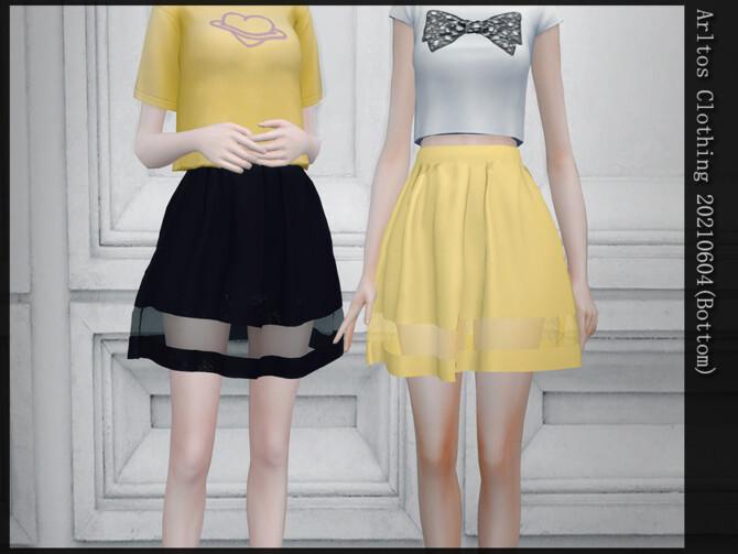 Sims 4 Skirt 20210604 (bottom) by Arltos at TSR
