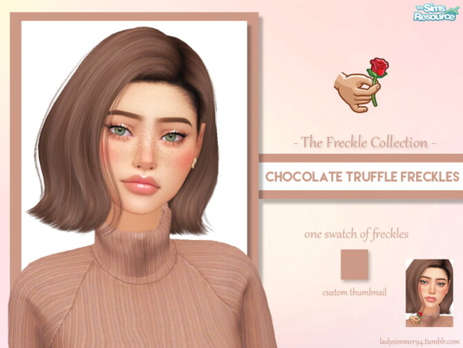 Sims 4 Chocolate Truffle Freckles by LadySimmer94 at TSR