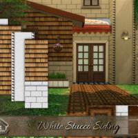 White Stucco Siding By Emerald