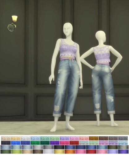 Seashell Wavvve 2 Sleeveless Top & Jeans