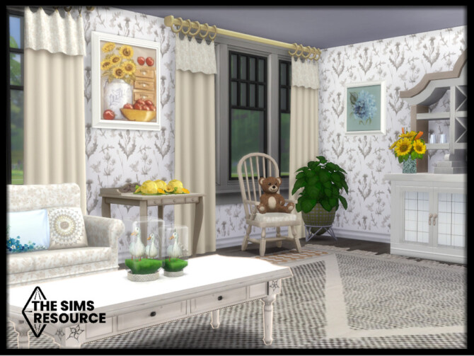 Sims 4 Country Living room by seimar8 at TSR
