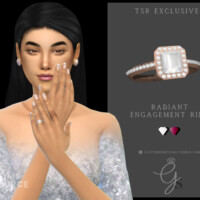 Radiant Engagement Ring By Glitterberryfly