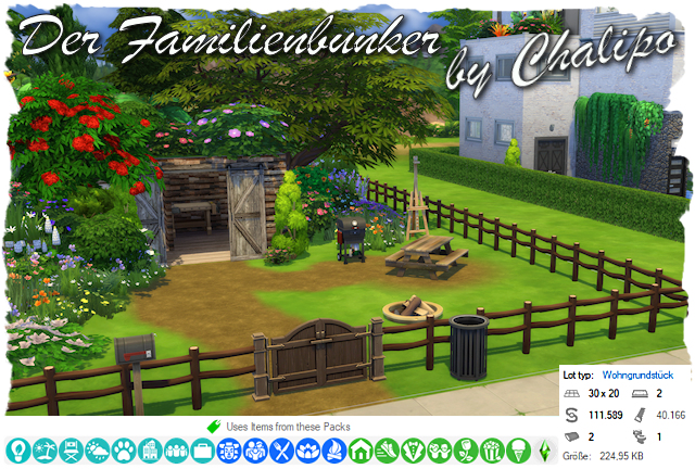 Sims 4 The family bunker by Chalipo at All 4 Sims