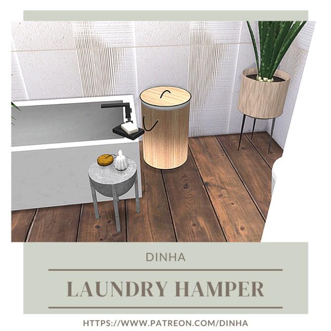 Sims 4 Laundry Hamper at Dinha Gamer