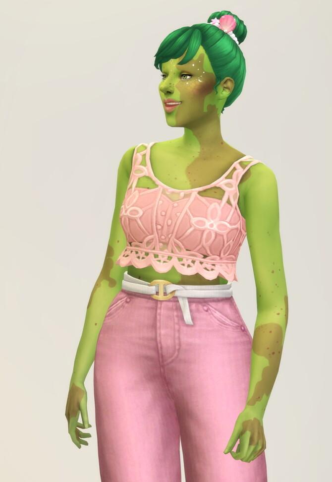 Sims 4 Seashell Wavvve 2 sleeveless top & jeans at Rusty Nail