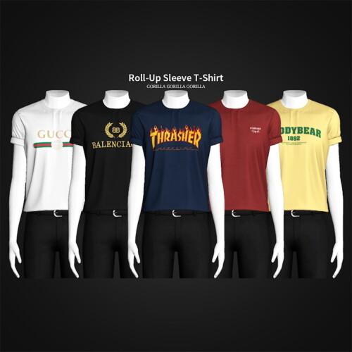Roll-up Sleeve T-shirt