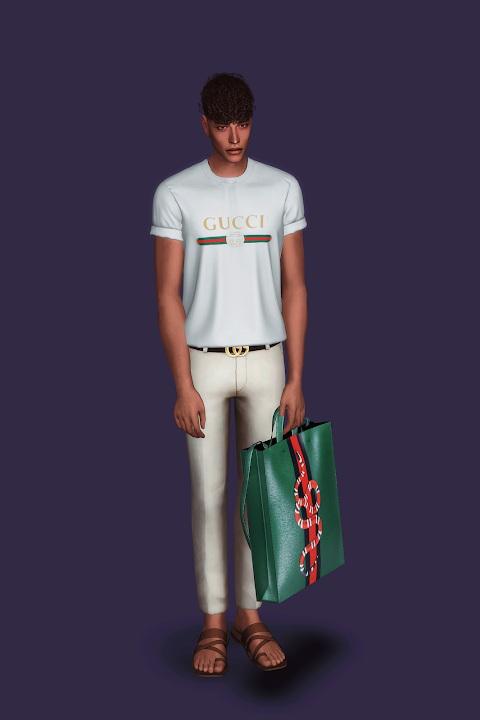 Sims 4 Roll Up Sleeve T Shirt at Gorilla