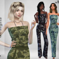 Long Camo Jumpsuit By Pinkfizzzzz