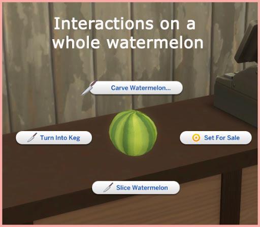 Sims 4 WATERMELON KEG at Icemunmun