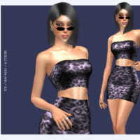 Strapless Leopard Print Crop Top Do117 By D.o.lilac