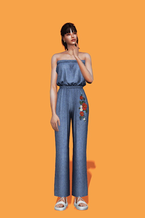 Sims 4 Tube Jumpsuit at Gorilla