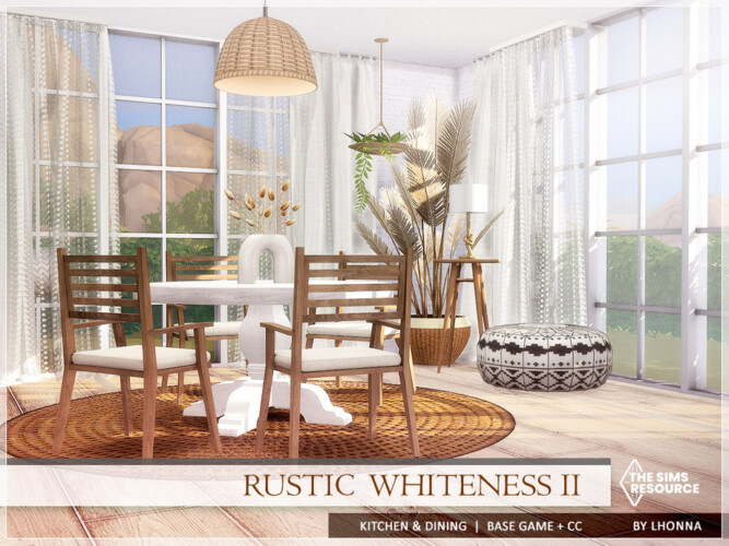 Rustic Whiteness Ii Kitchen & Dining By Lhonna