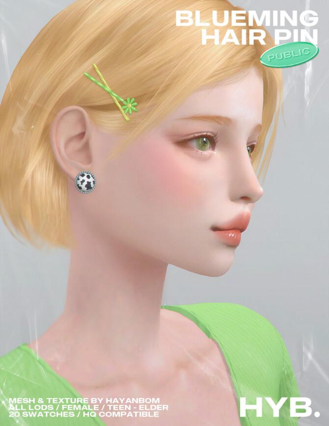Sims 4 BLUEMING HAIR PIN at Hayanbom