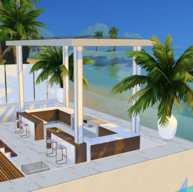 Sims 4 Miami Beach Mansion at Lily Sims
