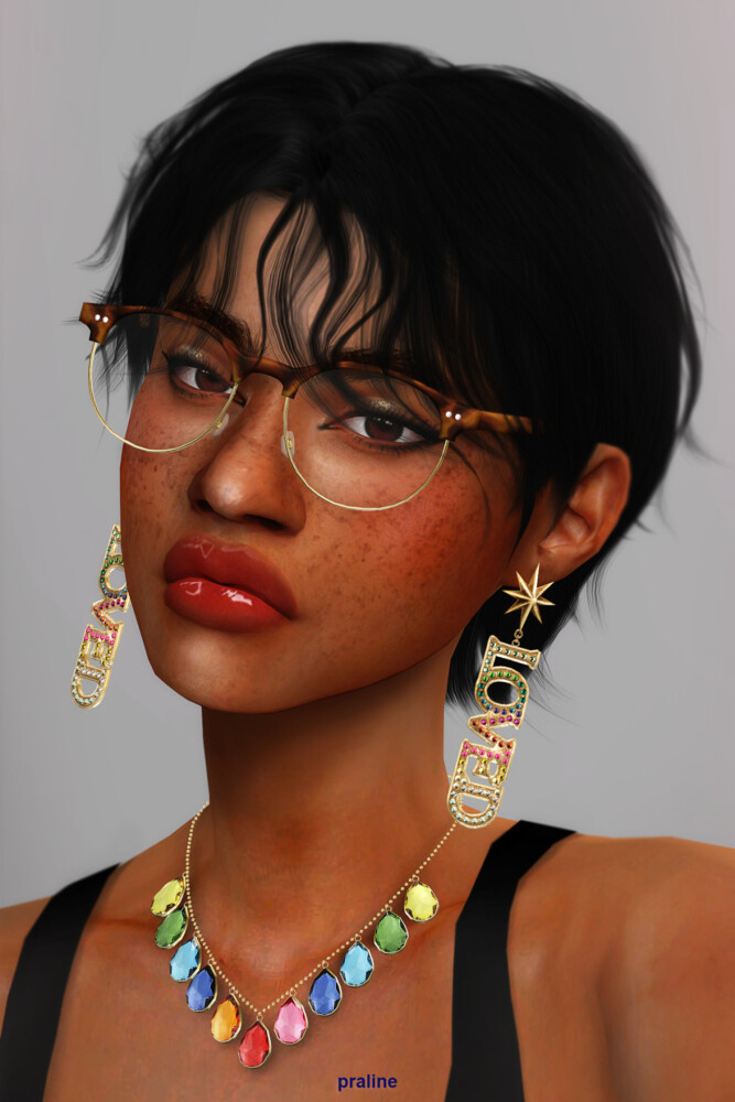 Sims 4 LIBELLULE & PAPILLON Glasses Duo at Praline Sims