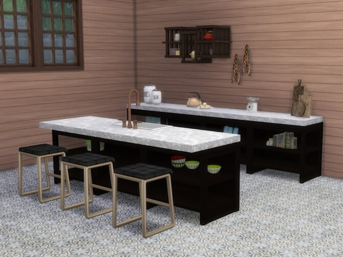 Sims 4 Parmenidh Library set at KyriaT's Sims 4 World