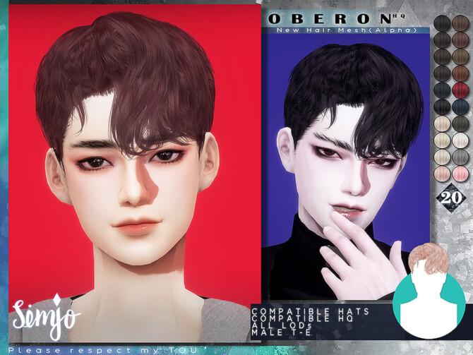Sims 4 Oberon Hair by KIMSimjo at TSR