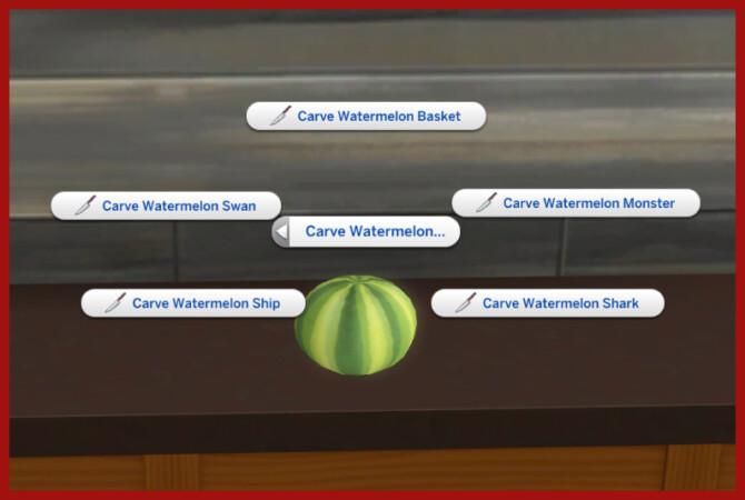 Sims 4 WATERMELON CARVING at Icemunmun