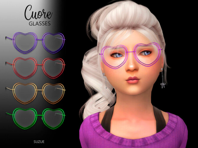 Sims 4 Cuore Glasses Child by Suzue at TSR