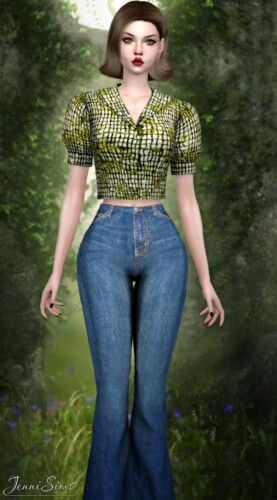 Base Game Compatible Top Blouse