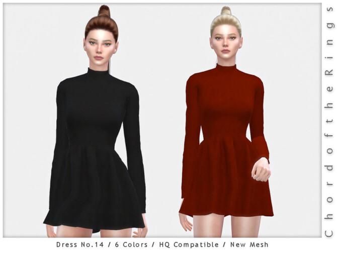 Sims 4 Dress No.14 by ChordoftheRings at TSR