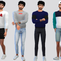 Rolled Jumper Shirt By Mclaynesims