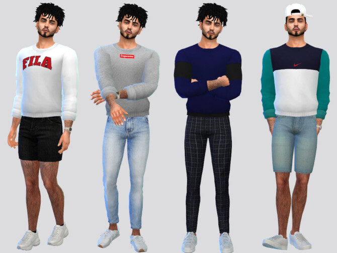 Sims 4 Rolled Jumper Shirt by McLayneSims at TSR