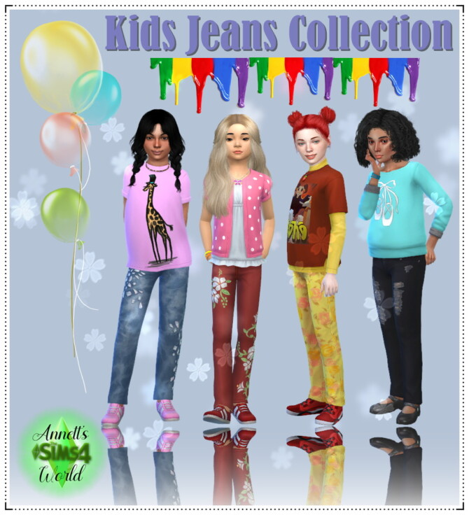Sims 4 Kids Jeans Collection at Annett's Sims 4 Welt