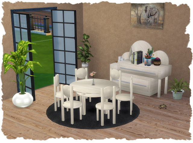 Sims 4 Rondo dining room by Chalipo at All 4 Sims