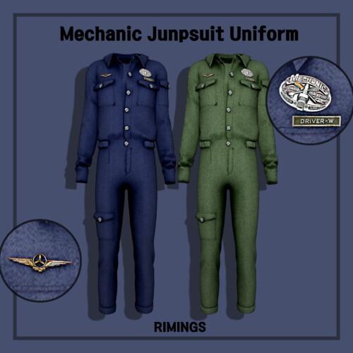 Mechanic Jumpsuit Uniform