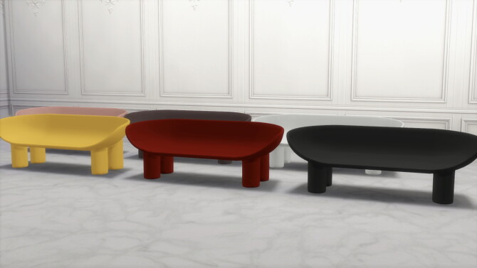 Sims 4 ROLY POLY SOFA at Meinkatz Creations
