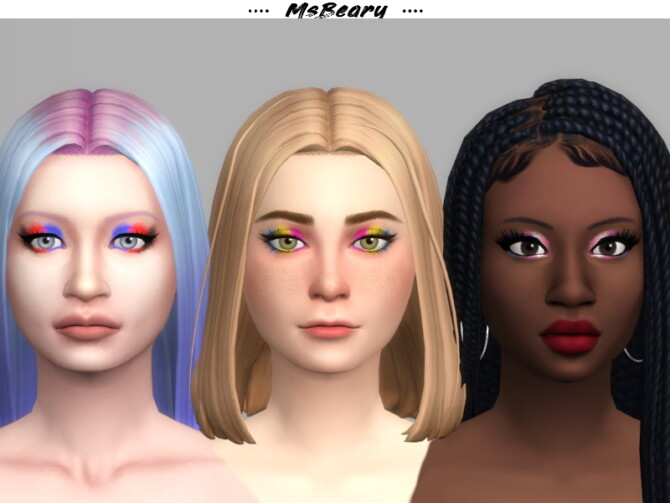 Sims 4 Pride Flag Eyeshadow by MsBeary at TSR