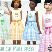 Kawaii Cat And Plaid Dress By Pelineldis
