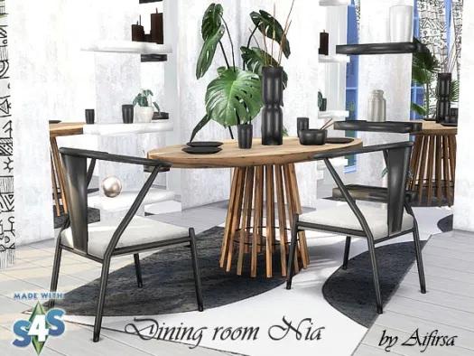 Sims 4 Nia dining room at Aifirsa