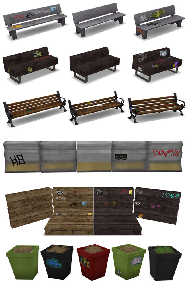Sims 4 Uglify your town set at Around the Sims 4