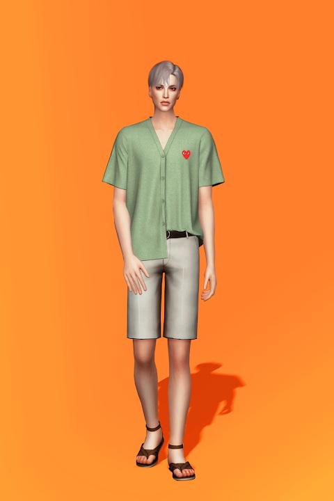 Sims 4 Short Sleeve Cardigan at Gorilla