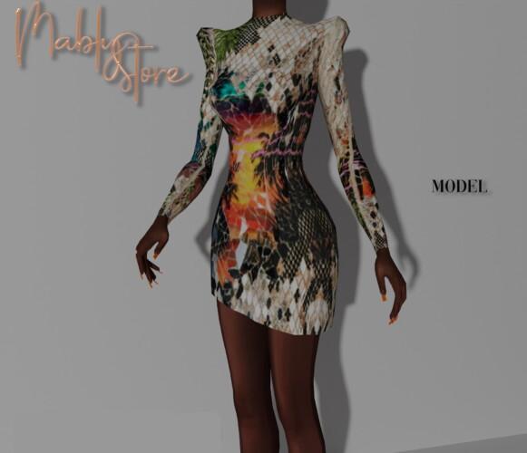 Model Cocktail Dress