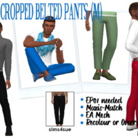 Ep01 Cropped Belted Pants (m)