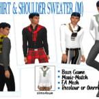Bg Shirt & Shoulder Sweater (m)