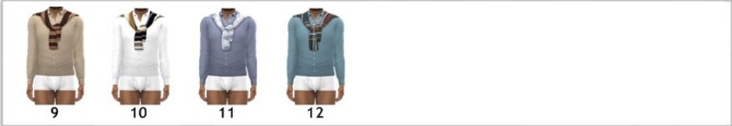 Sims 4 BG SHIRT & SHOULDER SWEATER (M) at Sims4Sue