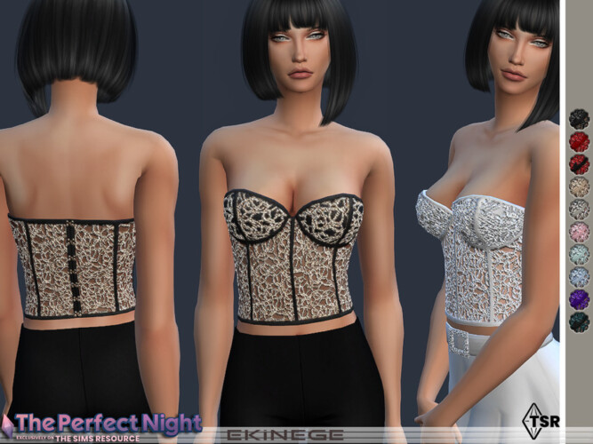 Embellished Bustier Top The Perfect Night By Ekinege